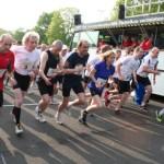 """Startschuss Mannschaftlauf 2013 mit """"Oldies but Goldies"""""""