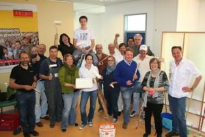 Gute Stimmung bei Streichaktion der Rotary-Clubs für den Kinderschutzbund