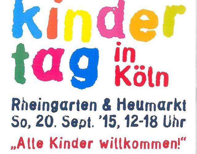 Plakat Weltkindertagsfest Köln 2015
