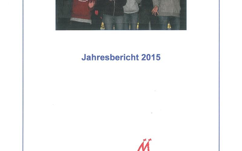 Titelblatt des Jahresberichts 2015