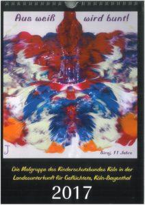 Kalender der Malgruppe geflüchteter Kinder in der Unterkunft Schönhauser Straße