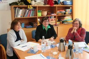 Die Referentinnen der Jahrespressekonferenz 2017, v. l. Barbara Zaabe, Marlis Herterich und Renate Blum-Maurice
