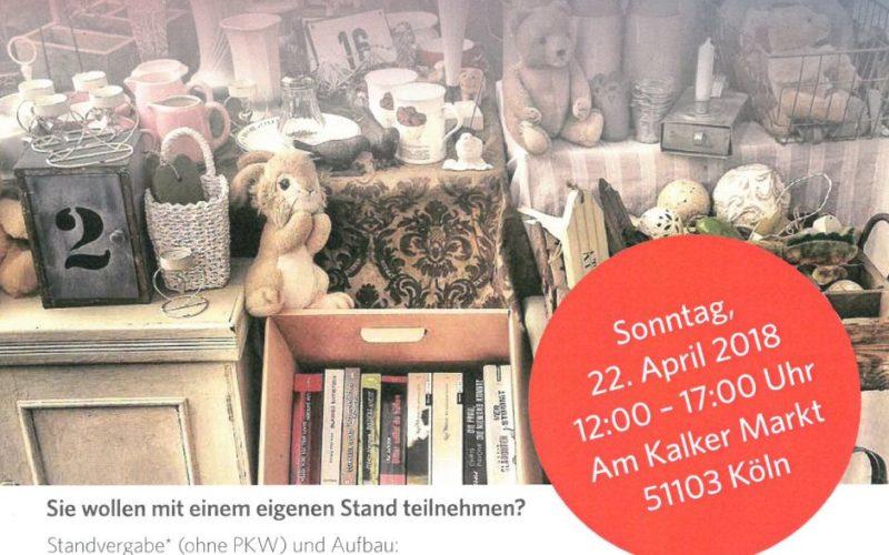 Poster Veedelsflohmarkt Kalker Markt