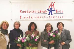 Vorstand des Fördervereins, v.l. Gabi Weinstock, Hedwig Neven DuMont,Angela Roters, Illona Gräfin von Krockow, Marlis Herterich