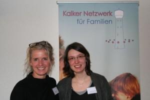 Die Koordinatorinnen des Kalker Netzwerks für Familien Christiane Petri (l.) und Daniela von Palubicki