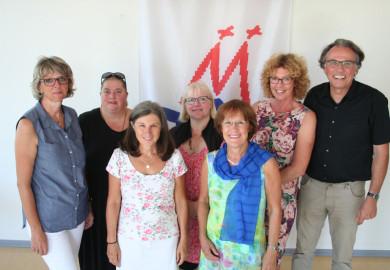 Team Verwaltung, v.l. Monika Kanthak, Martina Rosenstein, Dagmar Trees, Petra Börnicke, Barbara Zaabe, Anne Ickenroth, Jochen Muth