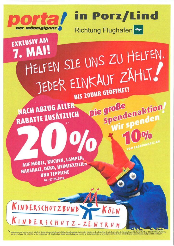 Spendenaktion Des Porta Möbelhaus Köln Porz Lind Am 7 Mai