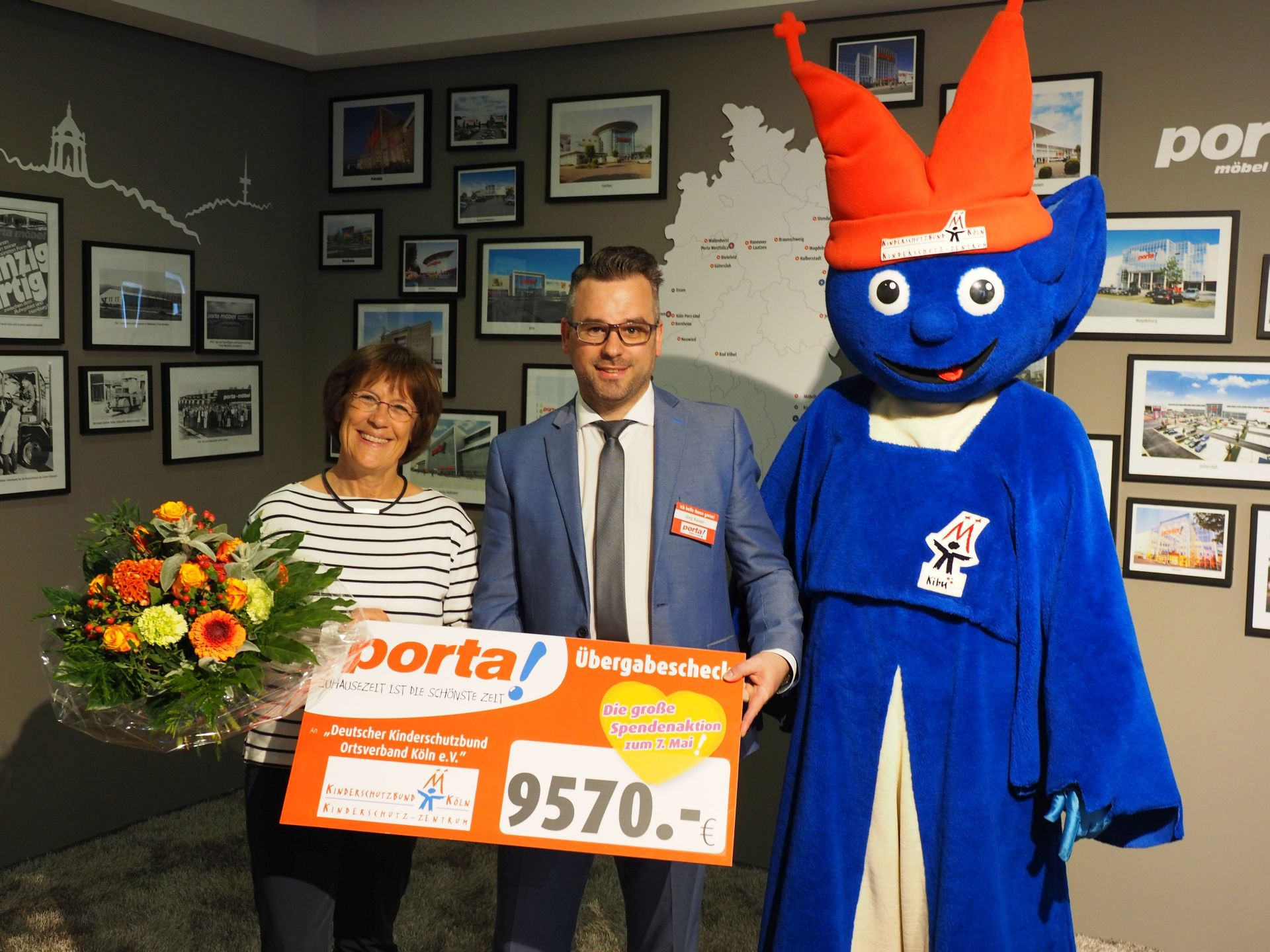 Spendenaktion Des Porta Moebelhaus Porz Lind Erloest 9570 Euro