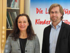 Die neue Leitung als Doppelspitze mit Maria Große Perdekamp und Lars Hüttler