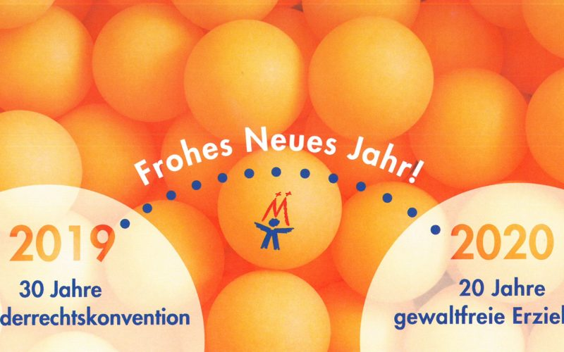 Neujahrskarte 2020 des Kinderschutzbundes Köln