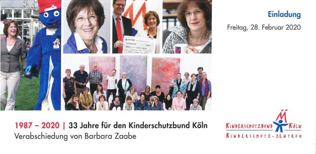 Einladungskarte Verabschiedung Barbara Zaabe
