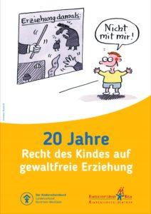Poster 20 Jahre Recht auf gewalftreie Erziehung